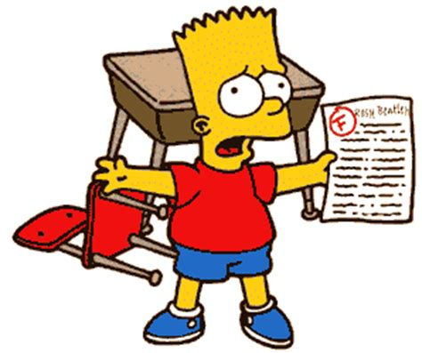 Bart simpson book report